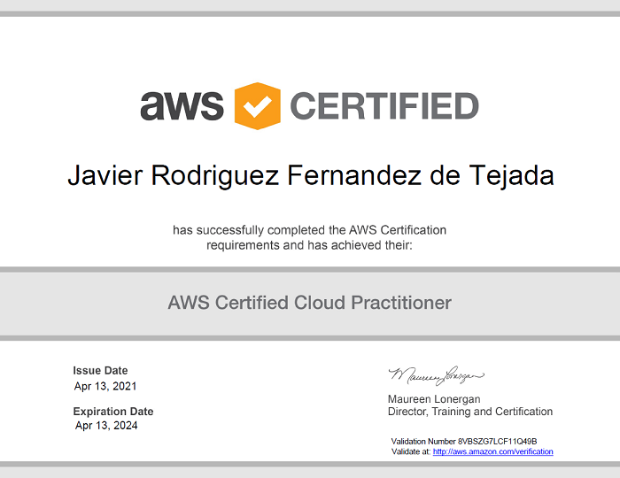 AWS Cloud Practitioner Certificate