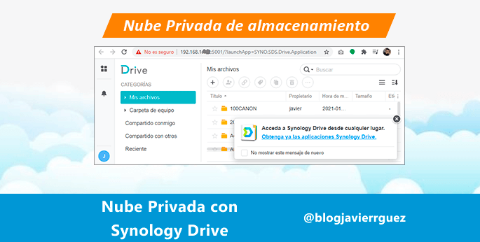 nube privada synology drive